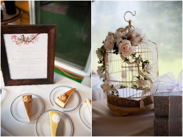 Rustic Wedding Cake And Birdcage
