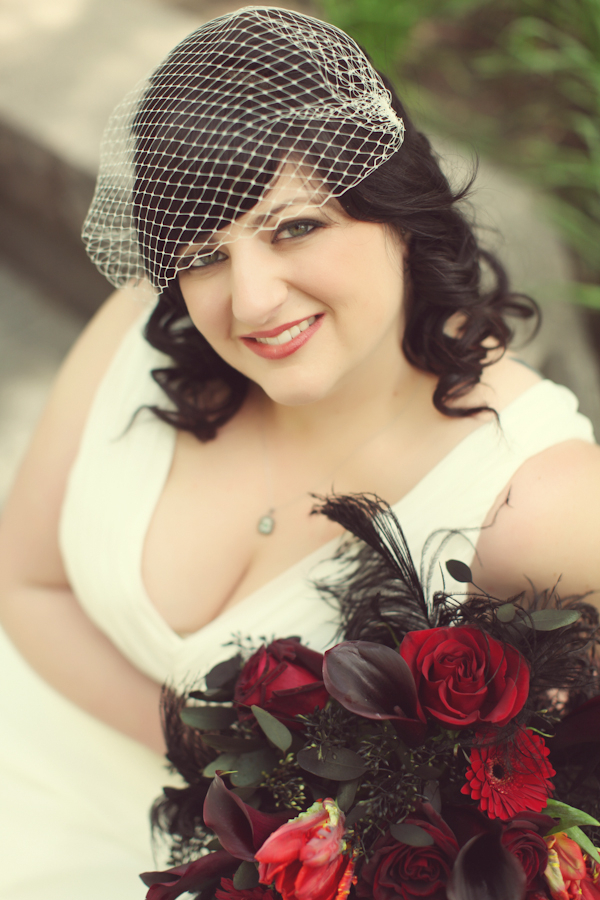 vintage wedding1 Red White & Black Rock n Roll Vintage Glam Wedding