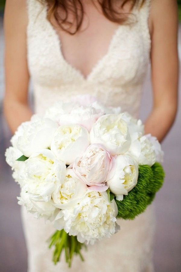 White Peonies Bridal Bouquets
