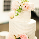 Wedding Cake Ideas: White Wedding Cake With Fresh Pastel Pink Roses