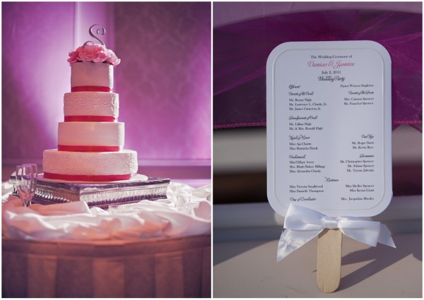 Traditional Pink and White Wedding Cake
