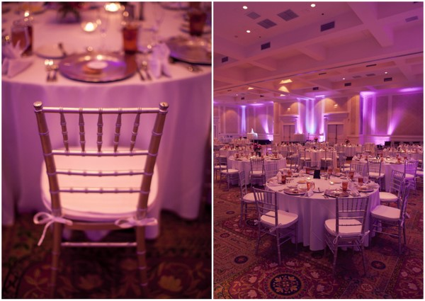 Pink Silver Indoor Wedding Reception Decor