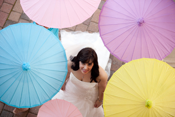 Multi Colored Pastel Wedding Parasols