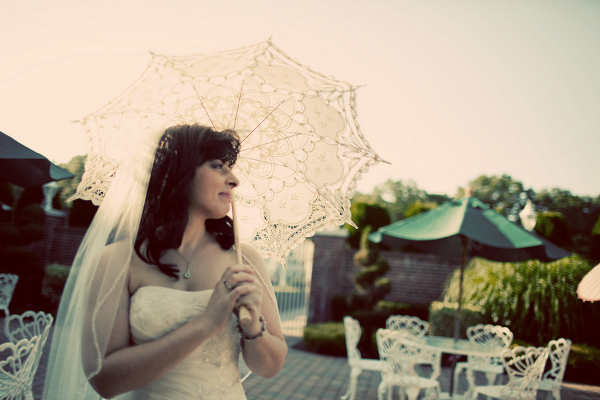 New York Wedding Vintage Lace Parasol