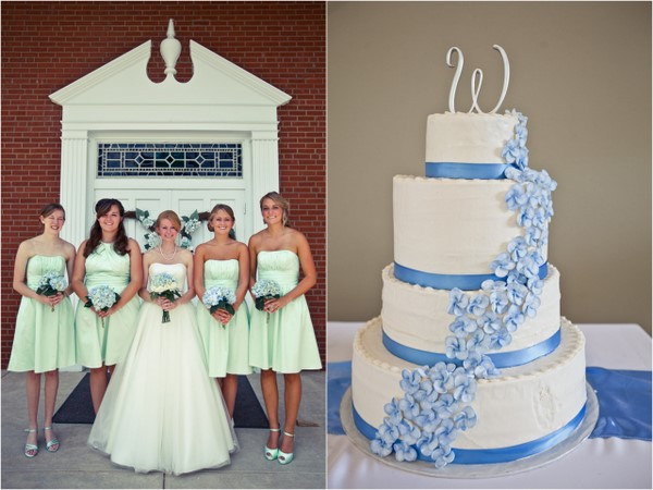 Blue and Green Wedding Palette