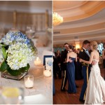 Striking Blue and White New York Military Wedding
