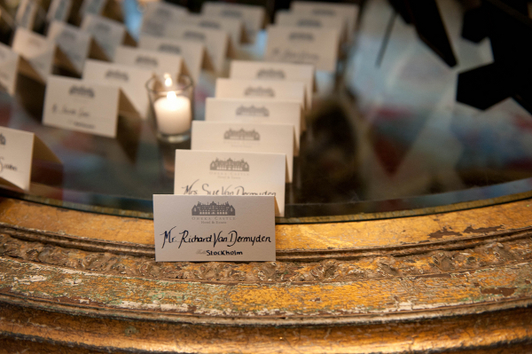Castle Wedding Seating Cards