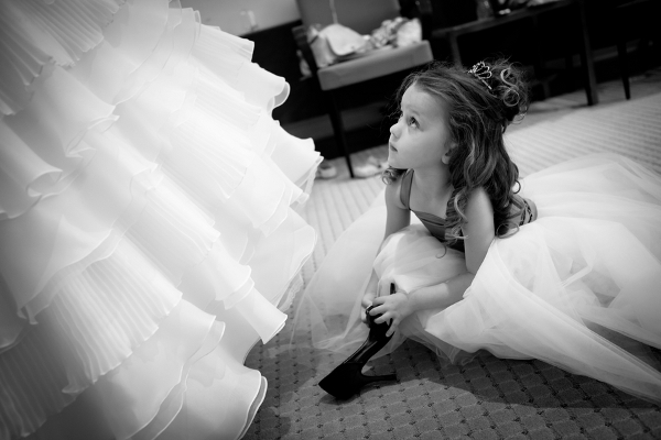 Flowergirl Dressing the Bride