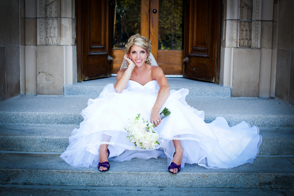 Modern Bride with Purple Shoes