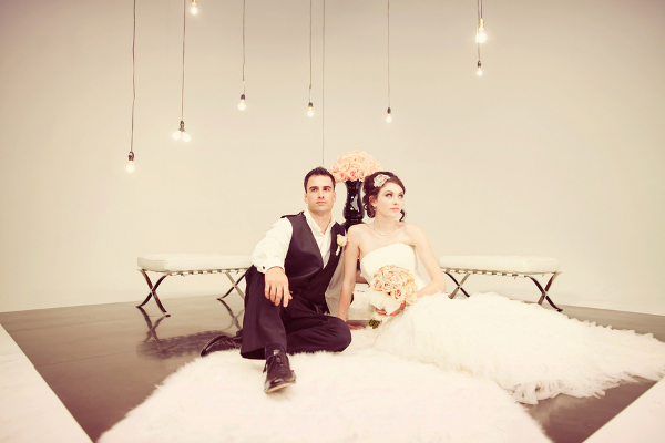 Modern Glam Bride and Groom