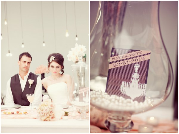 Modern Glam Wedding Details