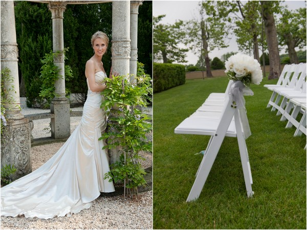 Outdoor Wedding Ceremony White Chairs