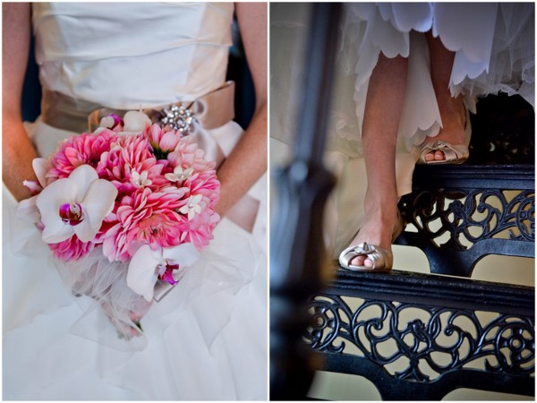 Pink Bouquet Taupe Shoes