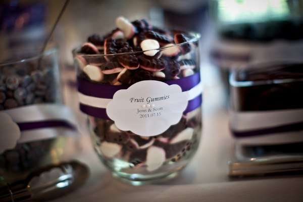 Purple White Wedding Candy