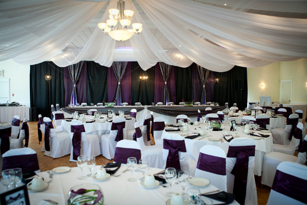 Purple White Wedding Reception