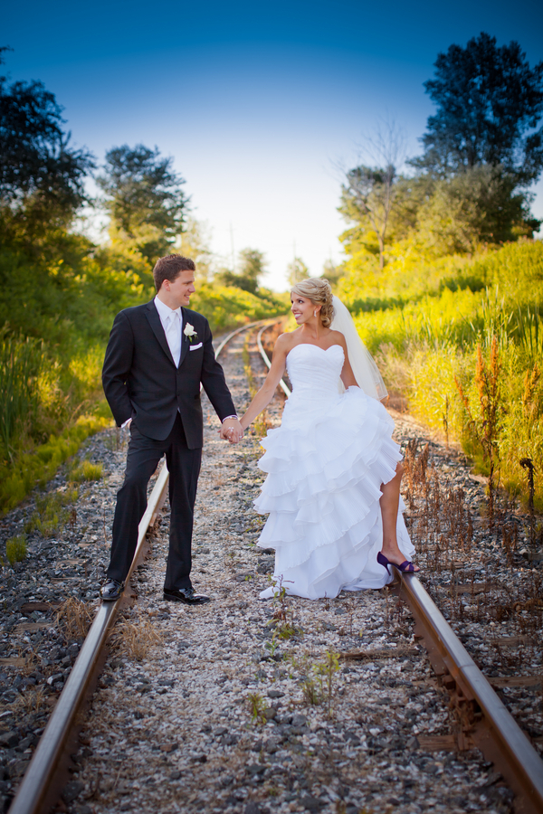 Rustic Wedding Bride Groom Railway Lines
