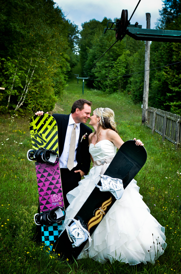 Snowboard Theme Wedding