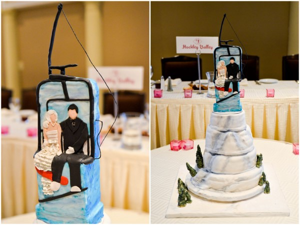 Snowboard Themed Wedding Cake