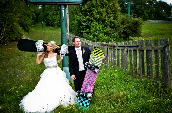 Snowboard Themed Wedding Ontario