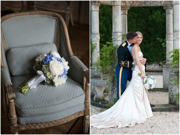 Traditional Blue White Wedding