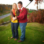 Picturesque North Carolina Golf Engagement Session by Jarod Knoten Photography