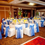 Blue and Yellow Aurora Country Club Wedding