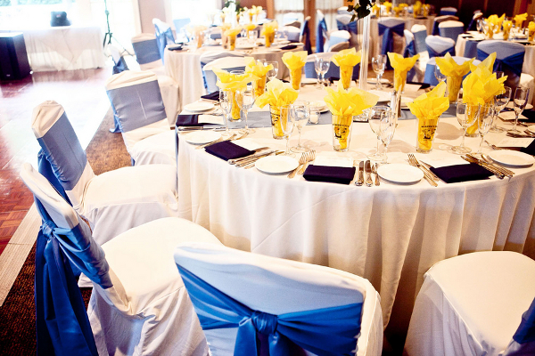 Blue & Yellow Country Club Reception