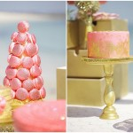 Sparkly Gold & Blush Christmas Dessert Table