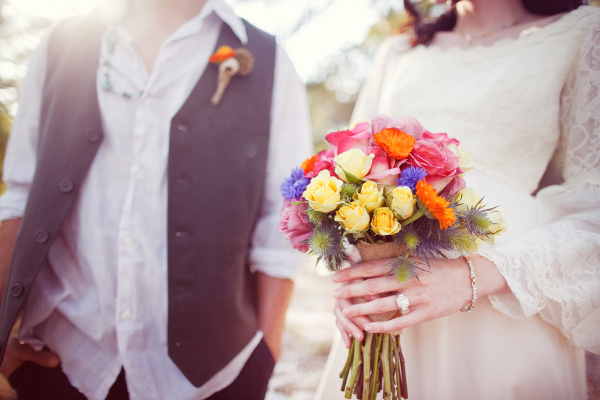 Boho Bride Colorful Bouquet