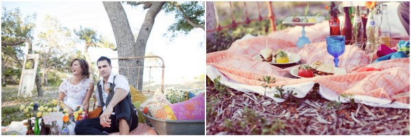 Boho Vintage Wedding Picnic
