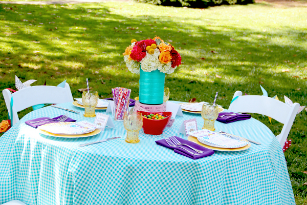 bright whimsical table inspiration Vintage Summer Carnival Wedding Theme