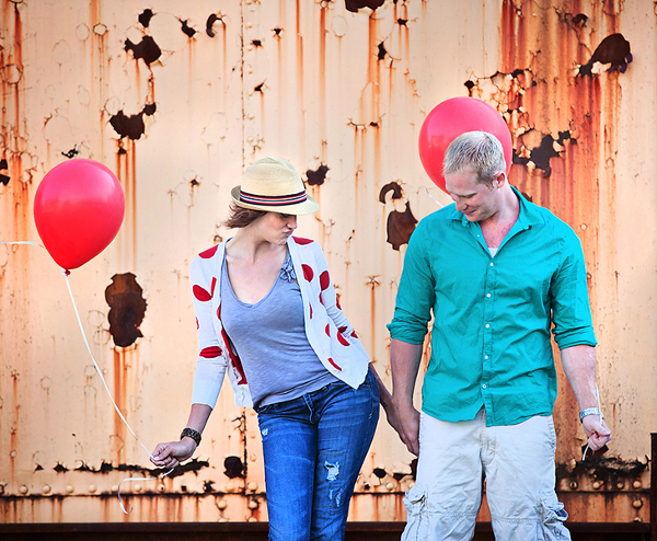 Colourful Engagement Session