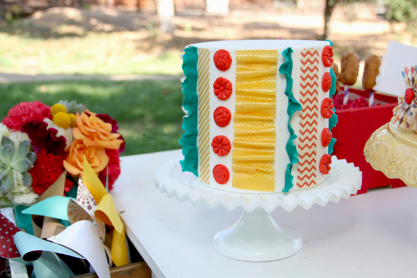 colourful wedding cake Vintage Summer Carnival Wedding Theme