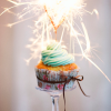 Happy New Years Fireworks Cupcake