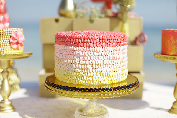 Pink & White Ombre Cake