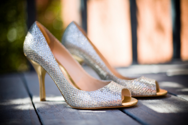 Silver Wedding Shoes Fall Bride
