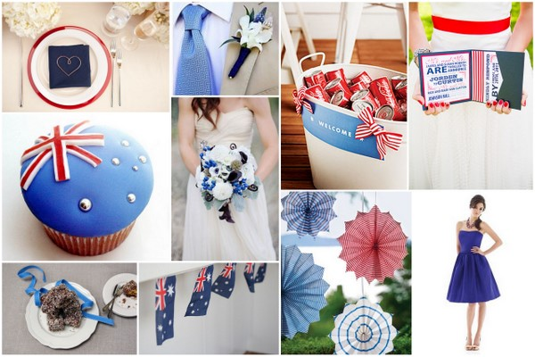australia day wedding theme Australia Wedding Theme Inspiration