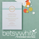 Betsy White Wedding Invitations
