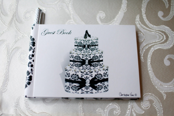 Black and White Guest Book