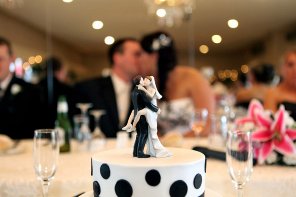 Black and White Wedding Topper