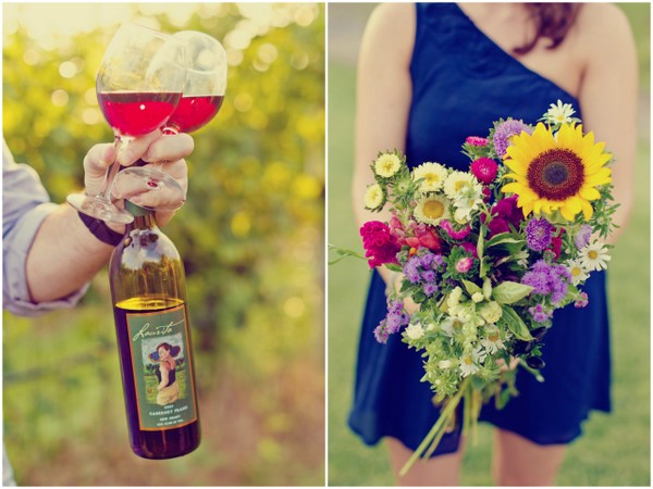 Engagement Pics Wine For Two