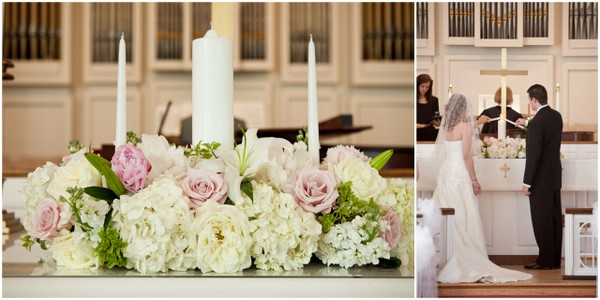 Traditional Pink White and Gold Country Club Wedding by Jan ...