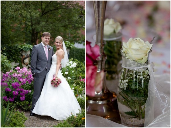 Pink and White Wedding Colours