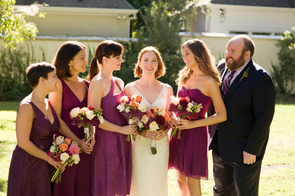 Short Plum Bridesmaid Dresses