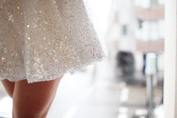 Short Sparkly Second Wedding Dress