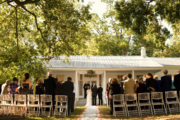 Simple Outdoor Wedding Reception
