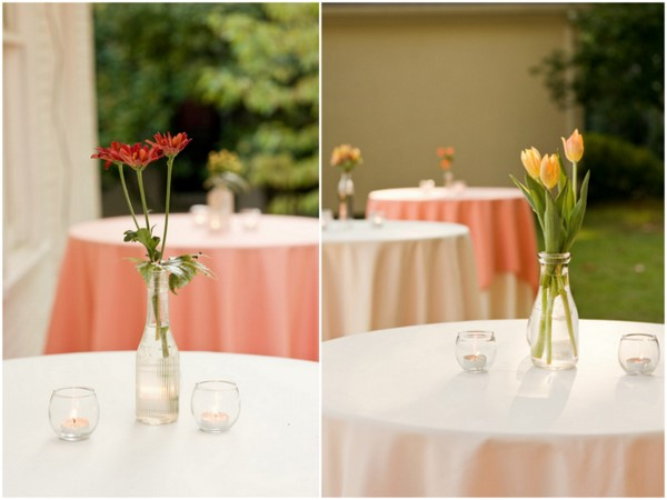 Simple Outdoor Wedding Tables