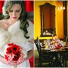 Poppy Red and Marigold Vintage Glam Wedding Theme