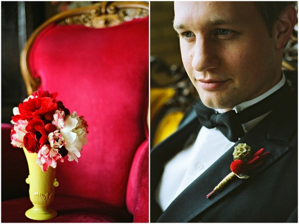 vintage glam wedding decor Poppy Red and Marigold Vintage Glam Wedding Theme
