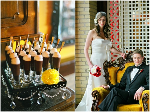 vintage glam wedding ideas Poppy Red and Marigold Vintage Glam Wedding Theme